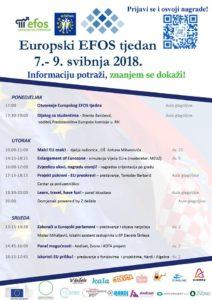 Europski EFOS tjedan 2018 program